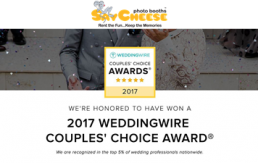 Say Cheese Photo Booth rental Cincinnati is a Wedding Wire Couples Choice award winner in 2017